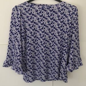 Michael Kors Stretch Blouse Large bell Sleeve